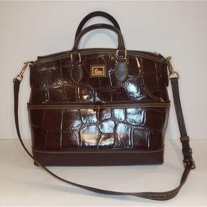 Dooney & Bourke Croc Leather Satchel